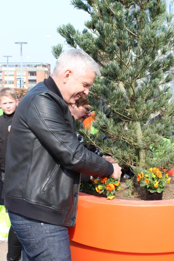 Borgmester John Dyrby til åbning af Nytorv